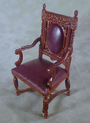 Bespaq Mahogany Gallery Library Chair 1:12 scale