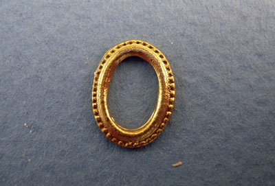 Miniature Gold Oval Picture Frame 1:24 scale