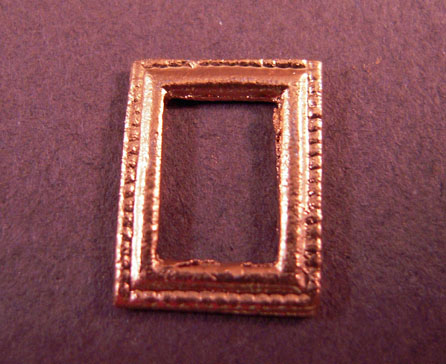 Island Crafts Miniature Rectangular Picture Frame 1:24