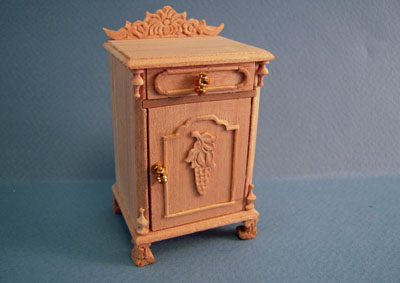 Bespaq Natchez Unfinished Bedside Table 1:12 scale