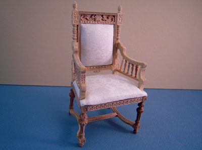 Bespaq Miniature Unfinished Revival Chair 1:12 scale