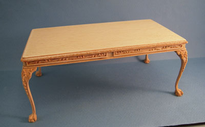 Bespaq Unfinished Roderick Dining Table 1:12 scale