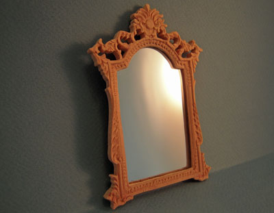 Bespaq Unfinished Versailles Wall Mirror 1:12 scale
