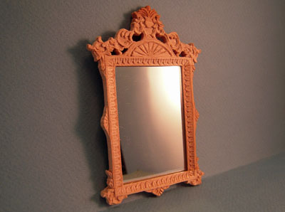 Bespaq Unfinished Louis XIV Wall Mirror 1:12 scale