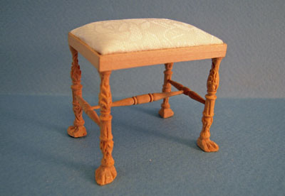 Bespaq Unfinished Ruskin Stool 1:12 scale