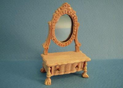 Unfinished Bespaq Dressing Case with Mirror 1:12 scale
