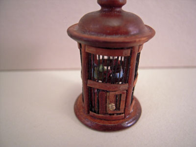 Bespaq Walnut Round Bird Cage 1:12 scale