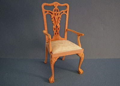 Bespaq Unfinished Blount Arm Chair 1:12 scale