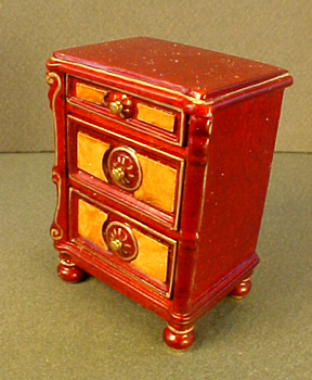 1:24 Scale Dollhouse Miniature JBM End Stand Nightstand Mahogany