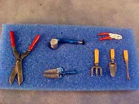 Garden Tool Set 1:12 scale