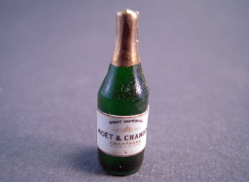 Miniature Moet & Chandon Bottle Of Champagne 1:12 scale