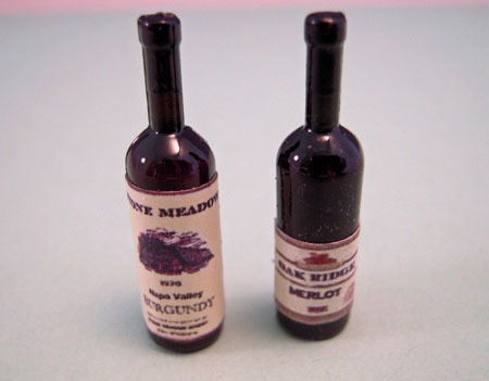 Miniature Red Wine Set 1:12 scale