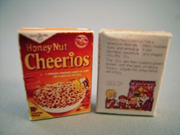 Miniature Box Of Cereal 1:12 scale