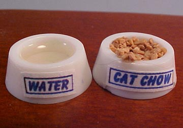 Hudson River Miniature Filled Cat Dishes 1:12 scale