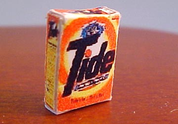 Tide Original Scent Powder Laundry Detergent Box 1:24 scale