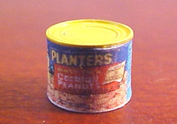 Miniature Can Of Nuts 1:24 scale