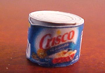 Miniature Can Of Shortening 1:24 scale