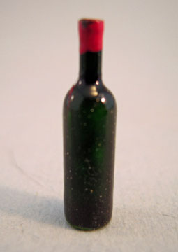 Miniature Red Wine Bottle 1:24 scale