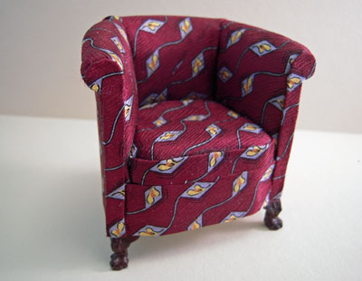 Bespaq Rich Bergundy Silk Limited Edition Chair 1:12 scale
