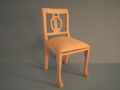 Bespaq Unfinished Lyre Back Side Chair 1:12 scale