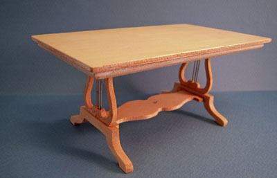 Bespaq Unfinished Lyre Dining Table 1:12 scale