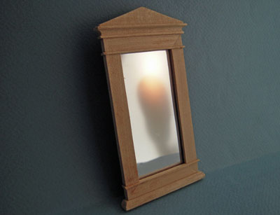 Bespaq Unfinished Empire Wall Mirror 1:12 scale