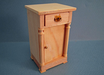 Bespaq Unfinished Empire Night Stand 1:12 scale