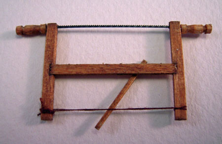 Sir Thomas Thumb Miniature Frame Saw 1:24 scale