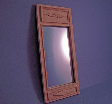 Bespaq Unfinished Hall Table Wall Mirror 1:12 scale