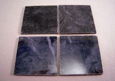 Mini Magic Black Faux Marble Floor Tile 1:12 scale