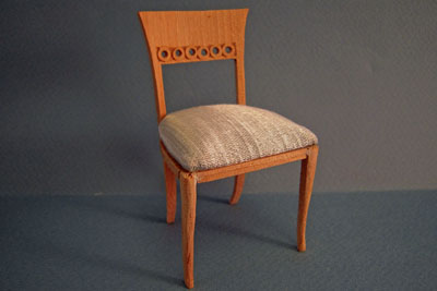 Bespaq Unfinished Regency Side Chair 1:12 scale