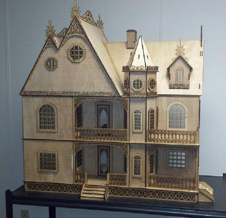 Laser Dollhouse Designs Jasmine Gothic Victorian Dollhouse Kit 1 12