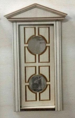 "Laser Dollhouse Designs 1/2"" Scale Miniature Victorian Double Circle Lite Door"