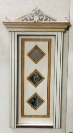 "Laser Dollhouse Designs 1/2"" Scale Miniature Three Diamond Custom Panel Single Door"