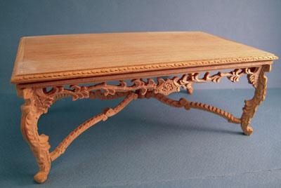 Bespaq Unfinished Crown Royal Banquet Table 1:12 scale