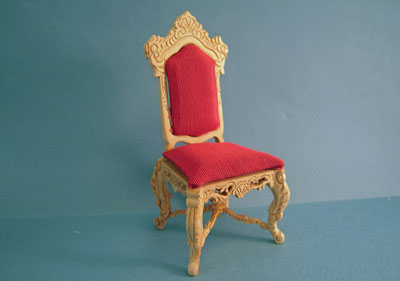 Bespaq Unfinished Crown Royal Banquet Side Chair 1:12 scale
