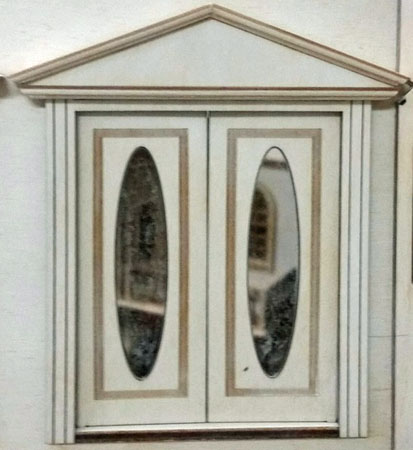 "Laser Dollhouse Designs 1/2"" Scale Miniature Victorian Oval Single Panel Double Door"