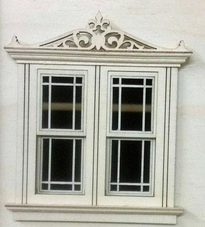 "Laser Dollhouse Designs 1/2"" Scale Miniature Working Prairie Pane Double Window"