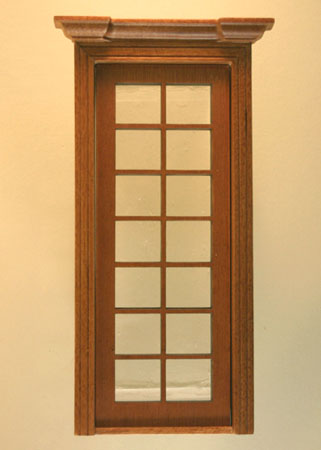 Majestic Mansions Miniature Walnut Classic Single French Door 1:12 scale