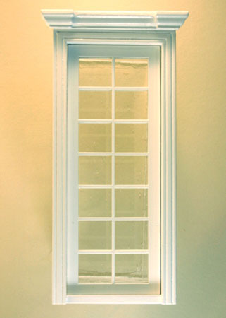 Majestic Mansions Miniature White Classic Single French Door 1:12 scale