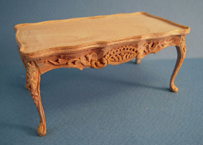 Bespaq Unfinished Regency Coffee Table 1:12 scale