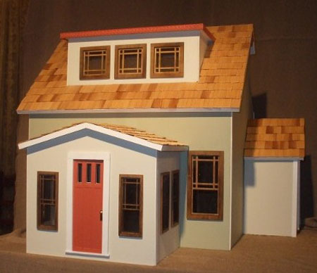Alessio Miniatures Assembled East End Bungalow Dollhouse Kit 1:12 scale