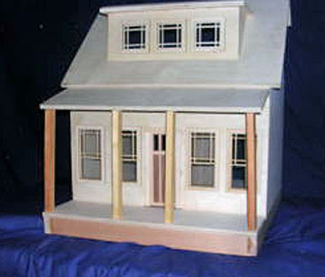 Alessio Miniatures Assembled Long Island Bungalow Dollhouse Kit 1:12 scale
