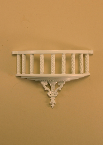 Majestic Mansions Miniature White Romeo Decorative Balcony 1:12 scale