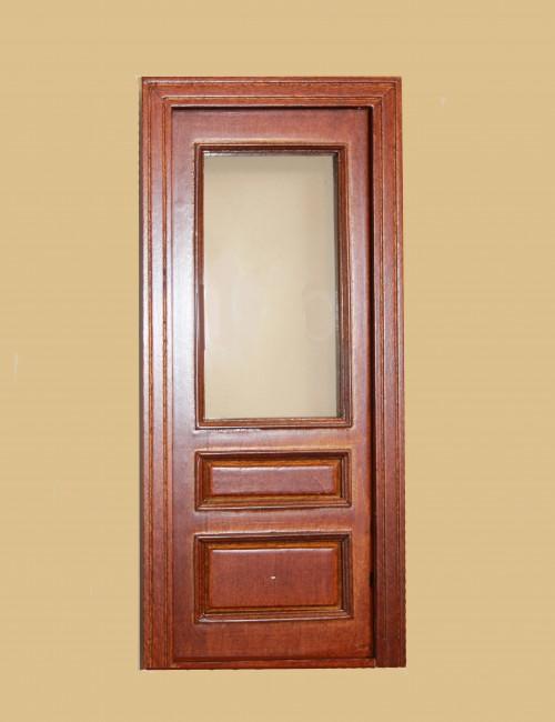 Majestic Mansions Miniature Walnut Windsor Single Exterior Door 1:12 scale