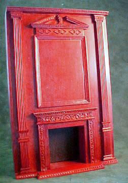 Bespaq Mahogany Fireplace Wall Unit 1:12 scale