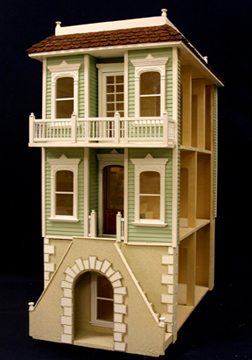Majestic Mansions Palmetto Dollhouse Kit, Italianate or Coastal Home 1:12 scale