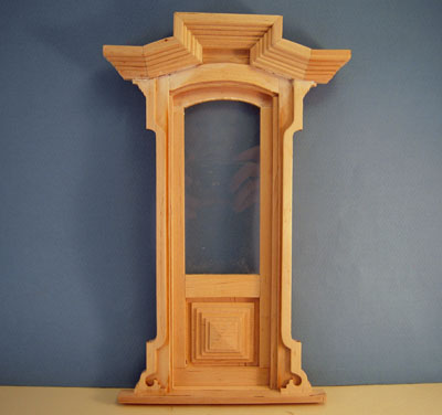 Bespaq Unfinished Miniature Victorian Door 1:12 scale