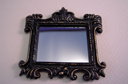 Island Crafts Fancy Decorative Framed Wall Mirror 1:12 scale