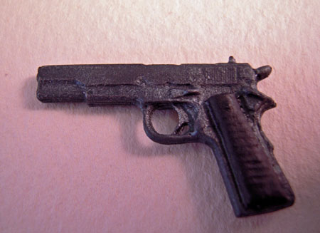 Hand Painted .45 Caliber Handgun 1:12 scale